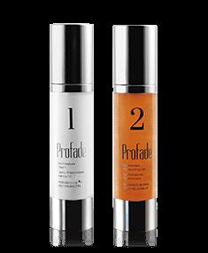 Behandlung mit Profade für tätowierte oder vernarbte Haut. Feuchtigkeitscreme und Narbengel zur Hautpflege.